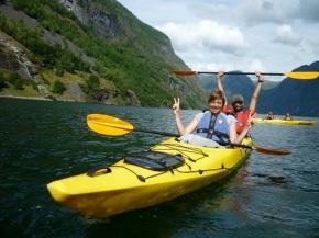 Noorwegen 2010 – dag 12 – Kayaken in hetfjord