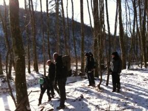 Avontuurlijke winterwandeling inHotton