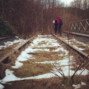 Avontuurlijk wandelen langs de oude spoorweg vanYvoir