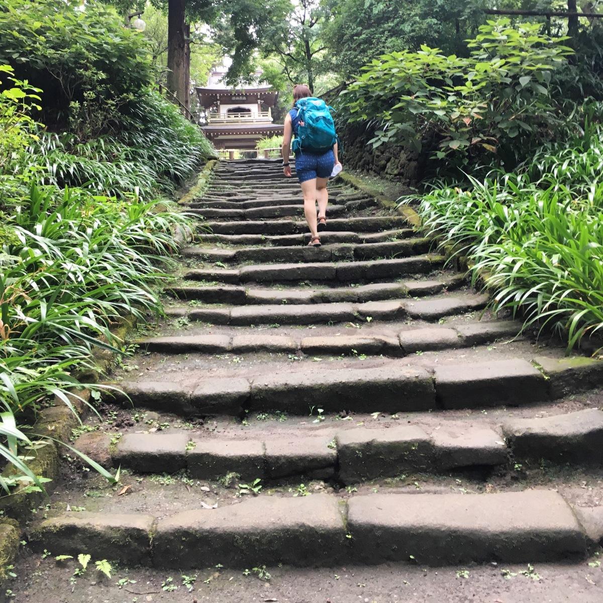 Japan 2017 - dag 14 - een hike, tempels en de zee